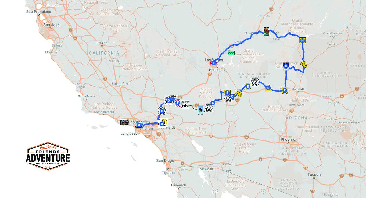 Uma exelente opção para quem não dispõe de muito tempo. No Tour Route 66 Express você irá rodar pela parte histórica e lendária da Mother One