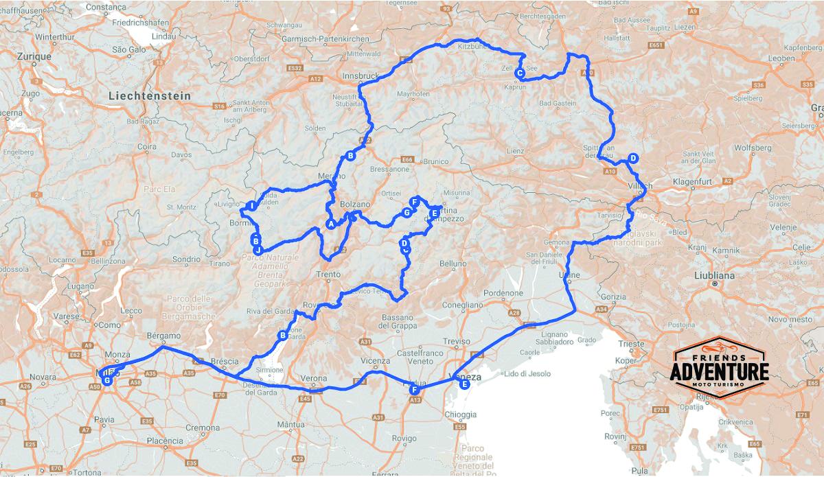 tour de moto na Europa